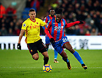 Crystal Palace's Bakary Sako tussles with Watford's Richarlison during the premier league match at Selhurst Park Stadium, London. Picture date 12th December 2017. Picture credit should read: David Klein/Sportimage