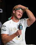 Ben Davison  Tyson Fury's trainer at news conference for the heavyweight fight between Fury and Otto Wallin at MGM Grand Hotel & Casino on September 11, 2019 in Las Vegas, Nevada. Fury and Wallin will meet in a heavyweight bout on September 14 at T-Mobile Arena