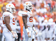 Landover, MD - September 1, 2018: Texas Longhorns defensive lineman Charles Omenihu (90) during game between Maryland and No. 23 ranked Texas at FedEx Field in Landover, MD. The Terrapins upset the Longhorns in back to back season openers with a 34-29 win. (Photo by Phillip Peters/Media Images International)