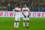 09.03.2019, Signal Iduna Park, Dortmund, GER, 1.FBL, Borussia Dortmund vs VfB Stuttgart, DFL REGULATIONS PROHIBIT ANY USE OF PHOTOGRAPHS AS IMAGE SEQUENCES AND/OR QUASI-VIDEO<br /> <br /> im Bild   picture shows:<br /> Beraten sich vor dem Freistoss (vl) Gonzalo Castro (VfB Stuttgart #8) mit Emiliano Insua (VfB Stuttgart #2), <br /> <br /> Foto &copy; nordphoto / Rauch