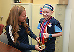 Soccer Star Christie Rampone visits athletes at Southern Regional High School in Manahawkin, NJ on Tuesday April 26, 2016.