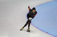 SCHAATSEN: HEERENVEEN: Thialf, 4th Masters International Speed Skating Sprint Games, 25-02-2012, Tominaga Shibata (M75), ©foto: Martin de Jong