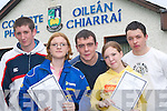HAPPY: Michael Nagle, Knocknagoshel, Sandra OConnor, Robert Brosnan, and Noreen OConnor, Castleisland, and Stephen Keane, Knocknagoshel, delighted with their Leaving Cert results at Castleisland Community College on Wednesday..