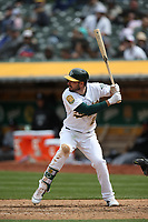 OAKLAND, CA - APRIL 18:  Matt Joyce #23 of the Oakland Athletics bats against the Chicago White Sox during the game at the Oakland Coliseum on Wednesday, April 18, 2018 in Oakland, California. (Photo by Brad Mangin)
