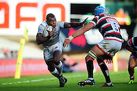 Semesa Rokoduguni of Bath Rugby goes on the attack. Aviva Premiership match, between Leicester Tigers and Bath Rugby on September 25, 2016 at Welford Road in Leicester, England. Photo by: Patrick Khachfe / Onside Images