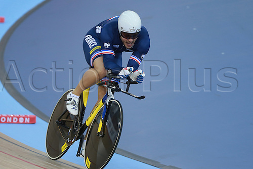 03.03.30216. Lee Valley Velo Centre, London England. UCI Track Cycling World Championships.  quentin lafargue (fra)  bronze medalist in the Kilo TT