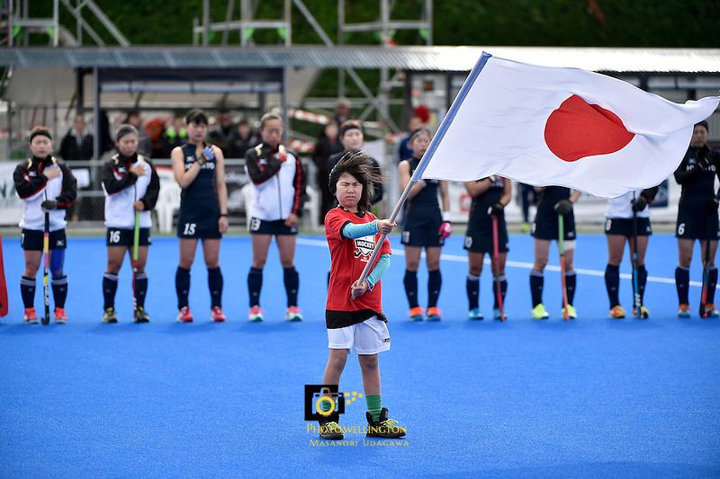International Festival of Hockey -  The Hawke's Bay Cup Argentina v Japan at Hastings Regional Sports Park, Hasting, New Zealand on Tuesday 14 April 2015.<br /> Photo by Masanori Udagawa. <br /> www.photowellington.photoshelter.com.