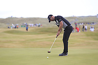 Paul Waring (ENG) on the 16th green during Round 3 of the Dubai Duty Free Irish Open at Ballyliffin Golf Club, Donegal on Saturday 7th July 2018.<br /> Picture:  Thos Caffrey / Golffile