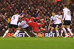 Tottenham's Danny Rose fouls Daniel Sturridge of Liverpool giving away a penalty - Liverpool vs. Tottenham Hotspurs - Barclay's Premier League - Anfield - Liverpool - 10/02/2015 Pic Philip Oldham/Sportimage