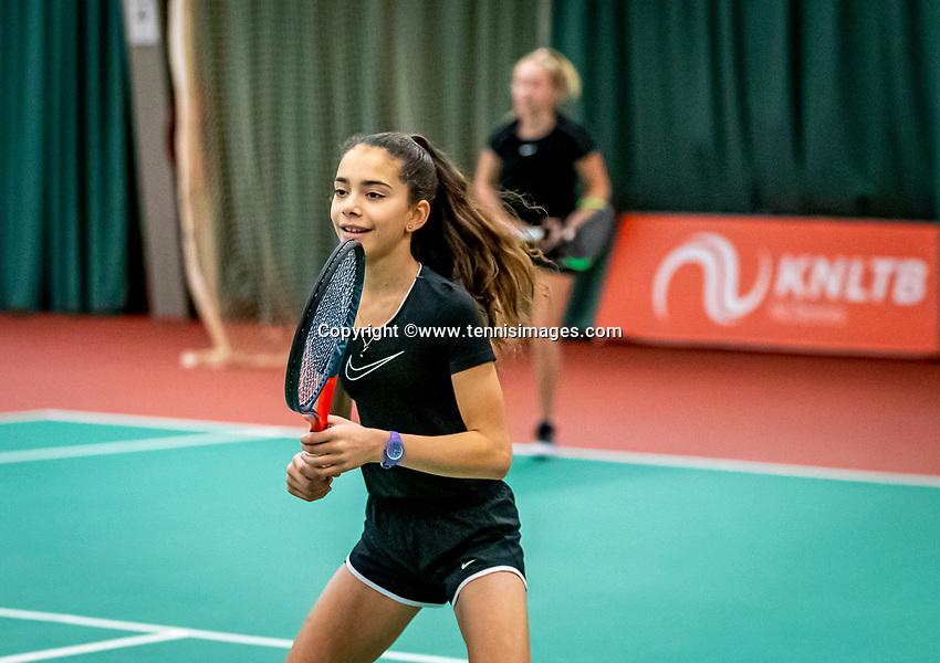 Wateringen, The Netherlands, December 15,  2019, De Rhijenhof , NOJK juniors doubles 12/14/16  years, Britt Du Pree (NED) and Lina Ilahi (NED) (L)<br /> Photo: www.tennisimages.com/Henk Koster
