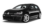 Stock pictures of low aggressive front three quarter view of a 2014 Volkswagen GOLF GTD 5 Door Hatchback Low Aggressive