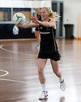06.10.2013 Silver Fern Laura Langman in action during the Silver Ferns training in Melbourne Australia. Mandatory Photo Credit ©Michael Bradley.