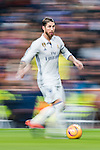 Sergio Ramos of Real Madrid in action during their La Liga match between Real Madrid and Real Sociedad at the Santiago Bernabeu Stadium on 29 January 2017 in Madrid, Spain. Photo by Diego Gonzalez Souto / Power Sport Images
