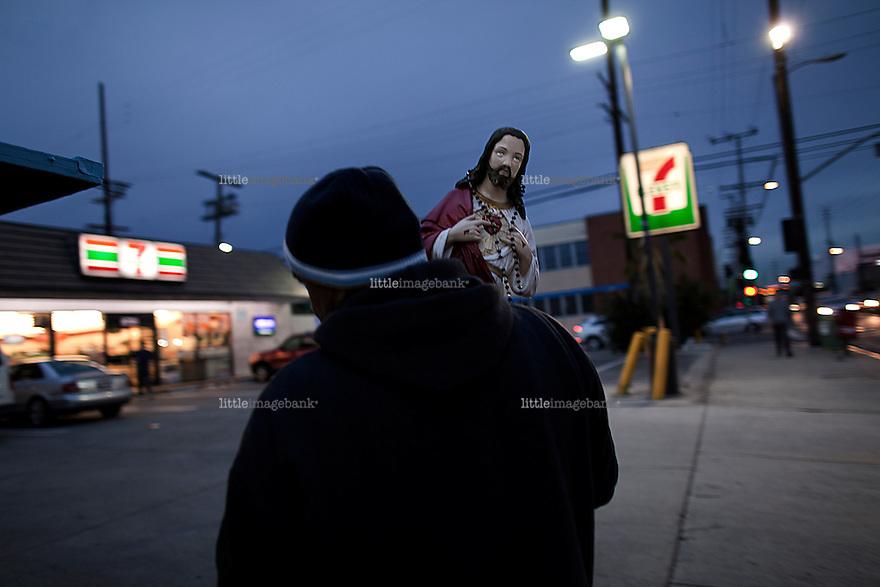Jesus og 711. Sunset Bloulevard. Los Angeles. 11.01.2011.