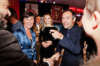 Nederland, Utrecht, 24 oktober 2014. Het 34ste Nederlands Film Festival 2014. Openingsavond NFF 2014 met premiere Bloedlink. Vlnr: Festivaldirecteur Willemien van Aalst, partner Joram Lürsen, Joram Lürsen (regisseur Bloedlink). Foto: 31pictures.nl / The Netherlands, Utrecht, 24 September 2014. The 34rd Netherlands Film Festival 2014. NFF 2014 opening night with premiere Bloedlink. From left; festival director Willemien van Aalst, partner Joram Lürsen, Joram Lürsen (director Bloedlink). Photo: 31pictures.nl / (c) 2014, www.31pictures.nl