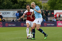Pauline Bremer of Manchester City Women and Viktoria Schnaderbeck of Arsenal Women during Arsenal Women vs Manchester City Women, FA Women's Super League Football at Meadow Park on 11th May 2019