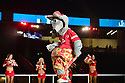MIAMI, FL - JANUARY 27: Kansas City Chiefs cheerleaders and moscat K. C. Wolf dance during the NFL Super Bowl ( LIV)(54) Opening Night at Marlins Park on January 27, 2020  in Miami, Florida. ( Photo by Johnny Louis / jlnphotography.com )