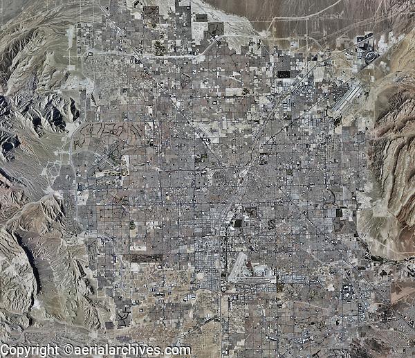 aerial photo map of Las Vegas, Nevada