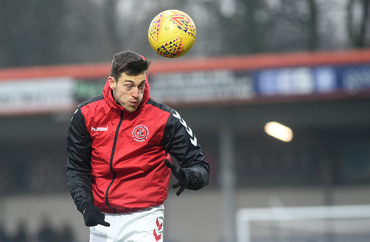Fleetwood Town's Ashley Nadesan during the pre-match warm-up <br /> <br /> Photographer Hannah Fountain/CameraSport<br /> <br /> The EFL Sky Bet League One - Rochdale v Fleetwood Town - Saturday 19 January 2019 - Spotland Stadium - Rochdale<br /> <br /> World Copyright © 2019 CameraSport. All rights reserved. 43 Linden Ave. Countesthorpe. Leicester. England. LE8 5PG - Tel: +44 (0) 116 277 4147 - admin@camerasport.com - www.camerasport.com