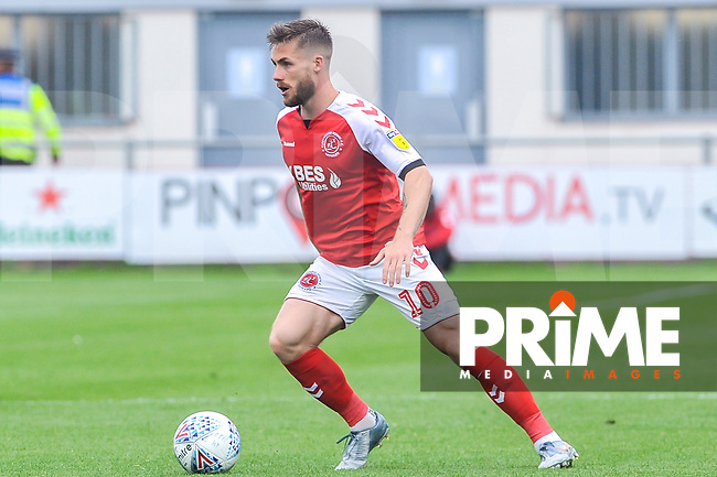 Fleetwood Town's forward Conor McAleny (10) during the Sky Bet League 1 match between Fleetwood Town and AFC Wimbledon at Highbury Stadium, Fleetwood, England on 10 August 2019. Photo by Stephen Buckley / PRiME Media Images.