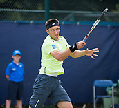 June 14th 2017, Nottingham, England; ATP Aegon Nottingham Open Tennis Tournament day 5;  Sergiy Stakhovsky of Ukraine takes a one set lead against fellow countryman Illya Marchenko