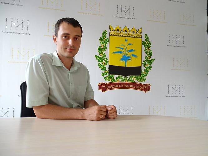 Artem-Vivdich leitet das Büro für Reformen (Projekt der deutschen gesellschaft für internationale Zusammenarbeit GIZ) / Kramatorsk liegt im ukrainischen Teil des Donbass 80 km von der Frontlinie entfernt. Die Bewohner sind sehr patriotisch.