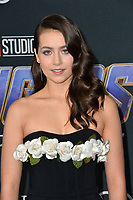 "LOS ANGELES, USA. April 22, 2019: Emma Fuhrmann at the world premiere of Marvel Studios' ""Avengers: Endgame"".<br /> Picture: Paul Smith/Featureflash"