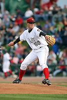 June 17th 2008:  Steven Johnson of the Great Lakes Loons, Class-A affiliate of the Los Angeles Dodgers, during the Midwest League All-Star Game at Dow Diamond in Midland, MI.  Photo by:  Mike Janes/Four Seam Images