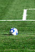 Soccer ball and field.