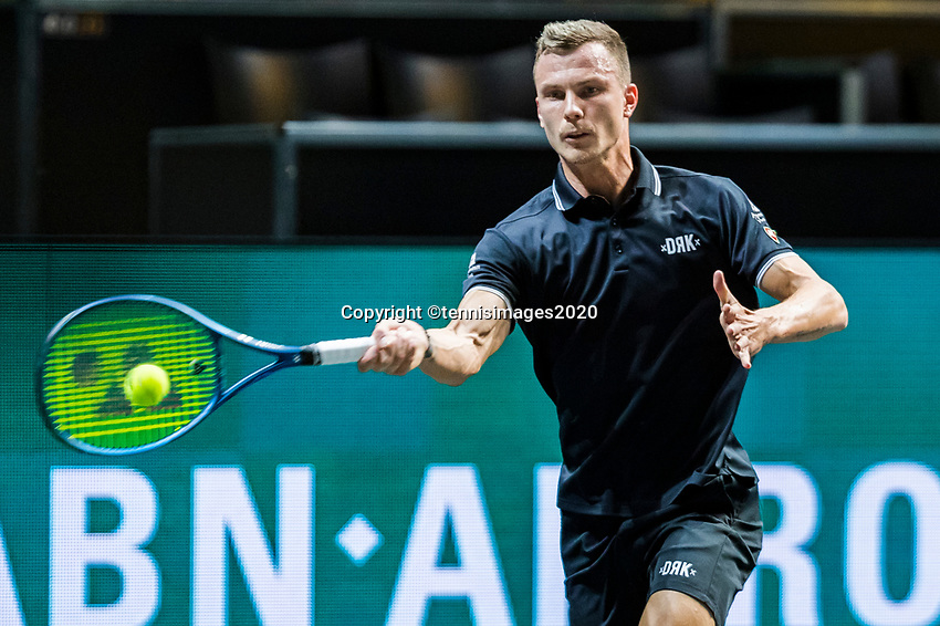 Rotterdam, The Netherlands, 10 Februari 2020, ABNAMRO World Tennis Tournament, Ahoy,  Marton Fucsovics (HON). <br /> Photo: www.tennisimages.com