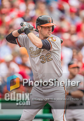 27 May 2013: Baltimore Orioles catcher Matt Wieters in action against the Washington Nationals at Nationals Park in Washington, DC. The Orioles defeated the Nationals 6-2, taking the Memorial Day, first game of their interleague series. Mandatory Credit: Ed Wolfstein Photo *** RAW (NEF) Image File Available ***