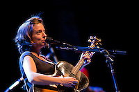 Ani DiFranco performs at the Keswick Theater in Glenside, PA.