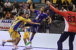 15.01.2013 Granollers, Spain. IHF men's world championship, prelimanary round. Picture show  Daniel Narcisse   in action during game between France v Brazil at Palau d'esports de Granollers
