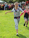 Chloe Donnelly winning the girls under12 race at Moneymore sports day. Photo: www.pressphotos.ie