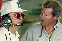 DAYTONA BEACH, FL - JUL 2, 1994:  Sports car legend Hurley Haywood, R, talks with Jack Roush before the Pepsi 400 NASCAR Winston Cup race at Daytona International Speedway, Daytona Beach, FL. (Photo by Brian Cleary/www.bcpix.com)