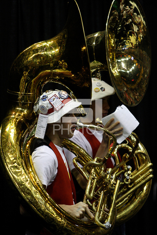 BERKELEY, CA - MARCH 30: Stanford Band plays during Stanford's 74-53 win against the Iowa State Cyclones on March 30, 2009 at Haas Pavilion in Berkeley, California.