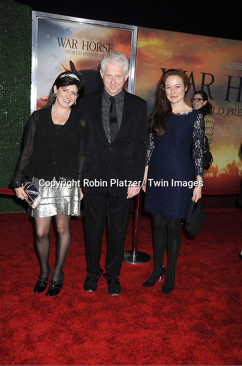 "Richard Curtis, Emma Freud and Jennifer Ehle attends the world premiere of ""War Horse"" on December 4, 2011 at Avery Fisher Hall in New York City."