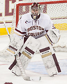 Joe Woll (BC - 31) - The visiting University of Vermont Catamounts tied the Boston College Eagles 2-2 on Saturday, February 18, 2017, Boston College's senior night at Kelley Rink in Conte Forum in Chestnut Hill, Massachusetts.Vermont and BC tied 2-2 on Saturday, February 18, 2017, Boston College's senior night at Kelley Rink in Conte Forum in Chestnut Hill, Massachusetts.