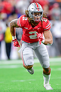 Indianapolis, IN - DEC 1, 2018: Ohio State Buckeyes defensive end Chase Young (2) rushes the passer during first half action of the Big Ten Championship game between Northwestern and Ohio State at Lucas Oil Stadium in Indianapolis, IN. (Photo by Phillip Peters/Media Images International)