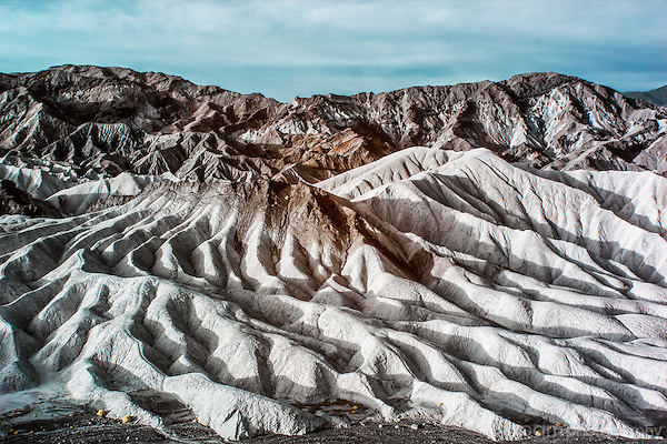 Unique color infrared image of the Elephant's Foot at Death Valley's Zabriskie Point
