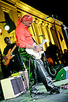 Guitarist Ernie Isley in concert during Twilight Tuesdays series at Missouri History Museum in St. Louis, MO on Oct 5, 2010.