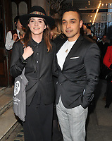 Pearl Chanda and Danny Lee Wynter at the &quot;Quiz&quot; press night, Noel Coward Theatre, St Martin's Lane, London, England, UK, on Tuesday 10 April 2018.<br /> CAP/CAN<br /> &copy;CAN/Capital Pictures