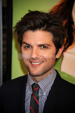 Adam Scott at the premiere of 'Leap Year' at the Directors Guild Theatre in New York City. January 6, 2010. Credit: Dennis Van Tine/MediaPunch