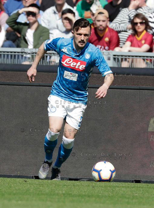 Mario Rui of Napoli  during the  italian serie a soccer match, AS Roma -  SSC Napoli       at  the Stadio Olimpico in Rome  Italy , March 31, 2019