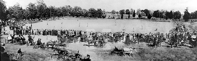 Early 1900s Baseball Game Panorama <br /> (&copy; Mississippi State University)
