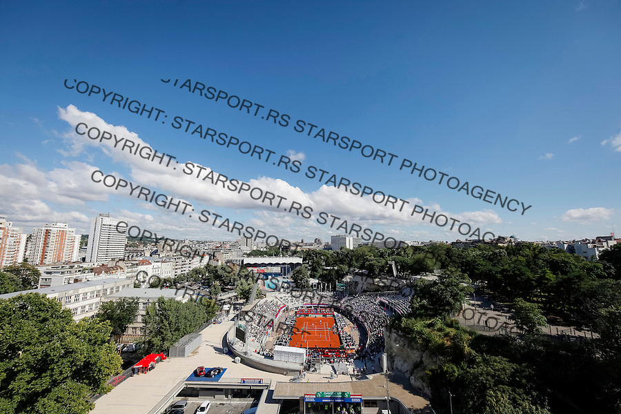 BELGRADE, SERBIA - JULY 16: General overview of Tasmajdan Stadium during day two of the Davis Cup Quarter Final match between Serbia and Great Britain on Stadium Tasmajdan on July 16, 2016 in Belgrade, Serbia. (Photo by Srdjan Stevanovic/Getty Images)