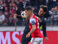 Goncalo Paciencia (Eintracht Frankfurt) gegen Granit Xhaka (Arsenal London) - 19.09.2019:  Eintracht Frankfurt vs. Arsenal London, UEFA Europa League, Gruppenphase, Commerzbank Arena<br /> DISCLAIMER: DFL regulations prohibit any use of photographs as image sequences and/or quasi-video.