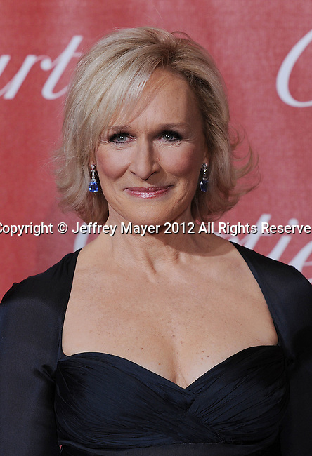 PALM SPRINGS, CA - JANUARY 08: Glenn Close arrives at the 2012 Palm Springs Film Festival Awards Gala at the Palm Springs Convention Center on January 7, 2012 in Palm Springs, California.
