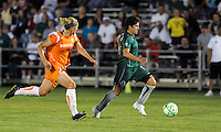 Sara Walsh (green), Jen Buczkowski..Saint Louis Athletica defeated Sky Blue F.C 1-0, at Anheuser-Busch Soccer Park, Fenton, MO.