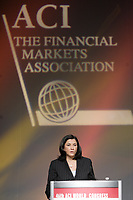 Montreal (QC) CANADA, May 4, 2007-<br /> <br /> <br /> Sharon Greval, Chair 46th<br />  ACI  World Congress and Executive Director , FX CIBC, World Markets speak about  The Financial Markets<br />  May 4, 2007, during the ACI convention in Montreal, Canada.<br /> <br /> <br /> photo : (c) images Distribution